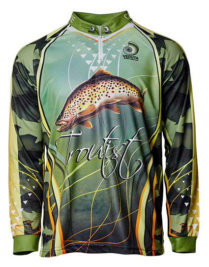 Fishingwear troutist fishing jersey longsleeve front