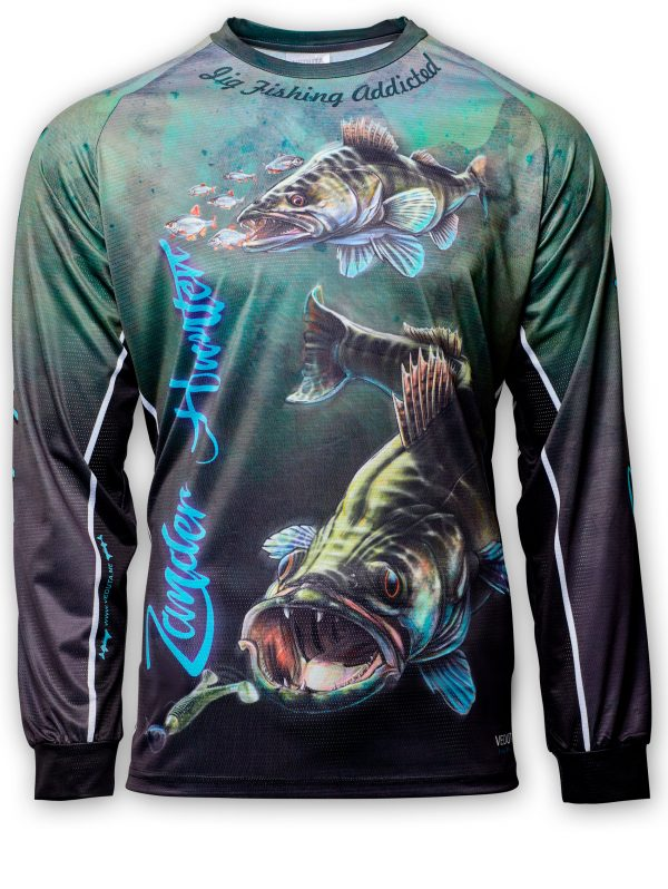 Fishingwear Zander Hunter Fishing Jersey front