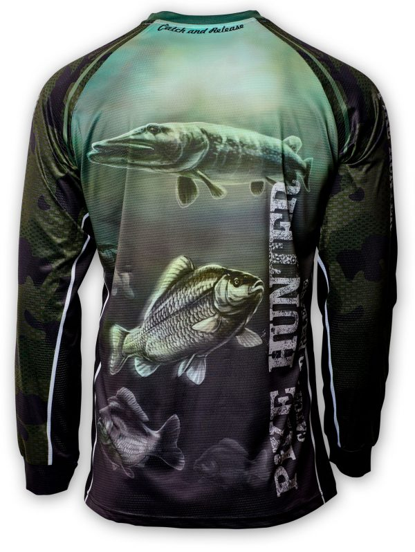 Fishingwear Pike hunter Jersey longsleeve back