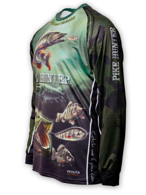 Fishingwear Pike hunter Jersey longsleeve side