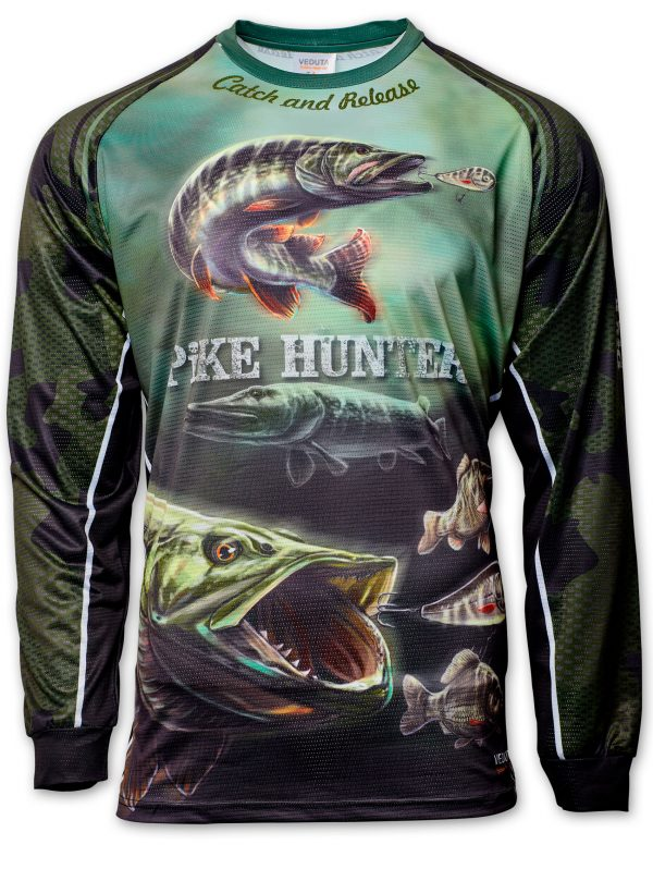 Fishingwear Pike hunter Jersey longsleeve front