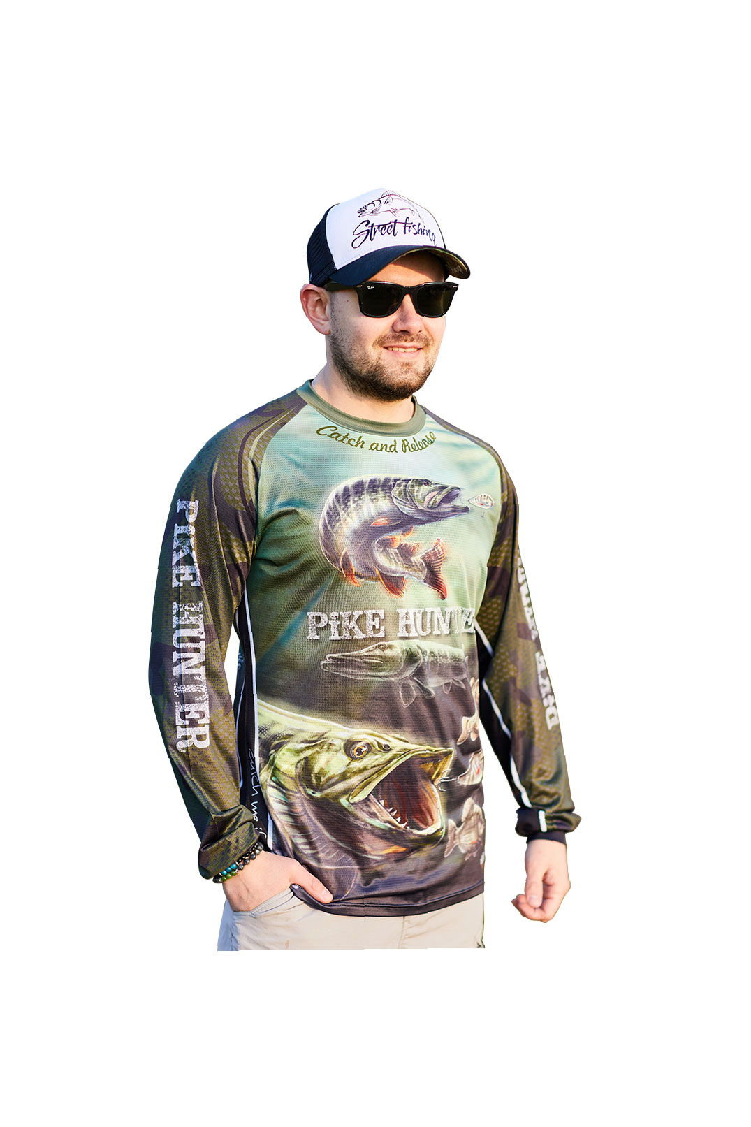 Fishingwear Pike hunter Jersey longsleeve