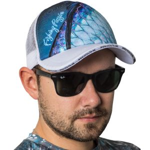 fishingwear fishing cap passion tarpon skin white