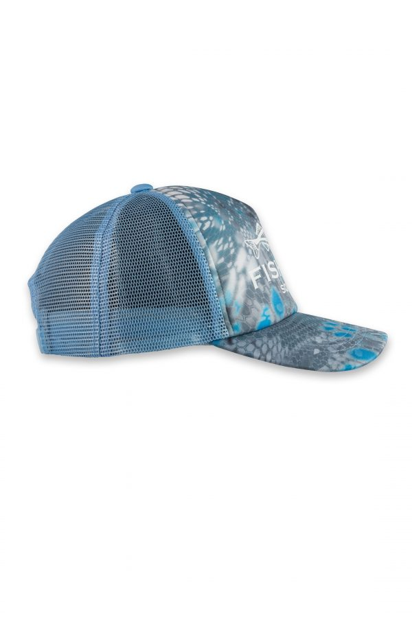 Fishing Cap Reptile Skin Blue