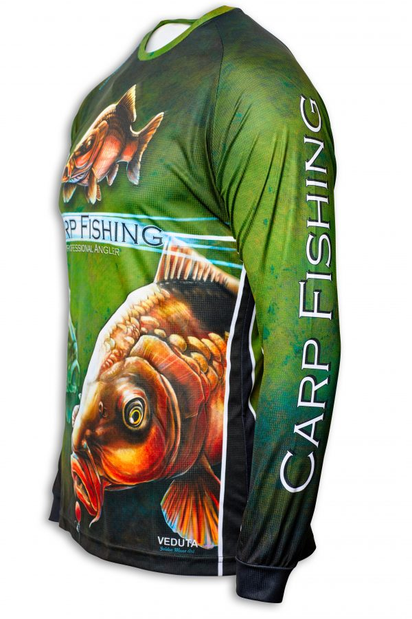 Fishingwear Carp fishing jersey side