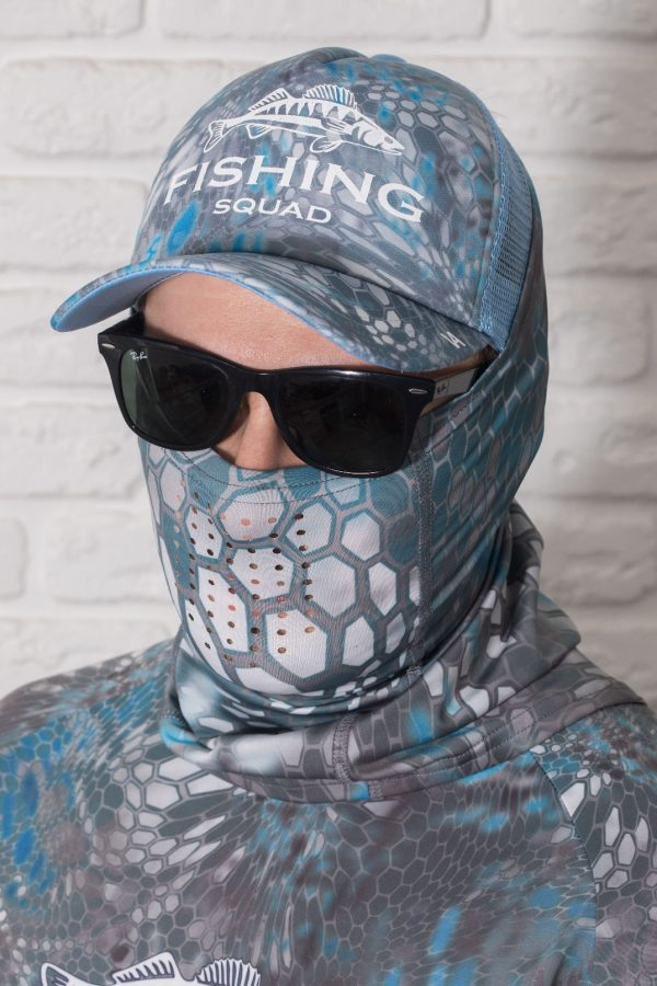 Face mask Reptile Skin Blue