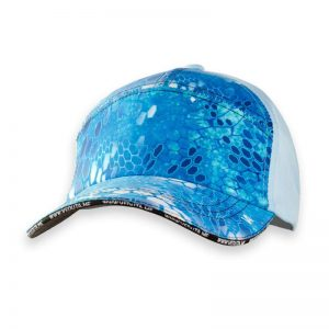 Reptile Skin Blue Water Fishing Cap